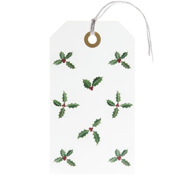 Sophie Allport Gift Tag (set of 8) Holly & Berry