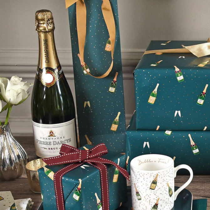 Sophie Allport Gift Bag Bottle Bubble & Fizz