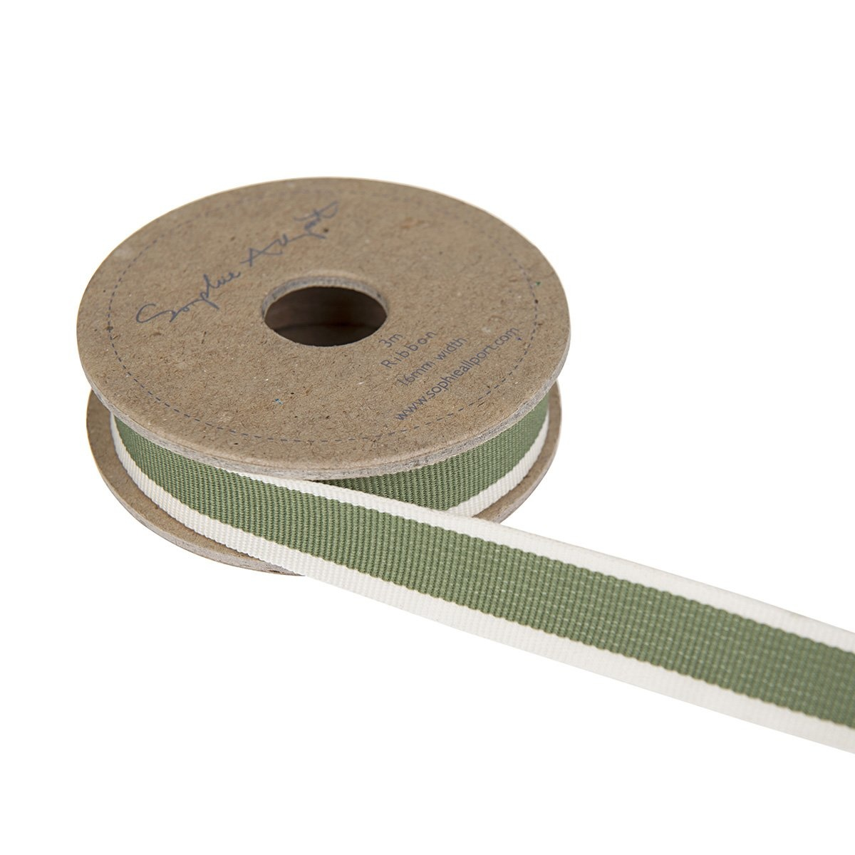 Sophie Allport Ribbon On Spool Leaf Green Stripe