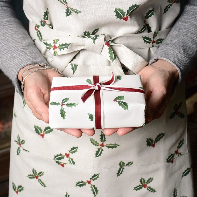 Sophie Allport Adult Apron Holly & Berry