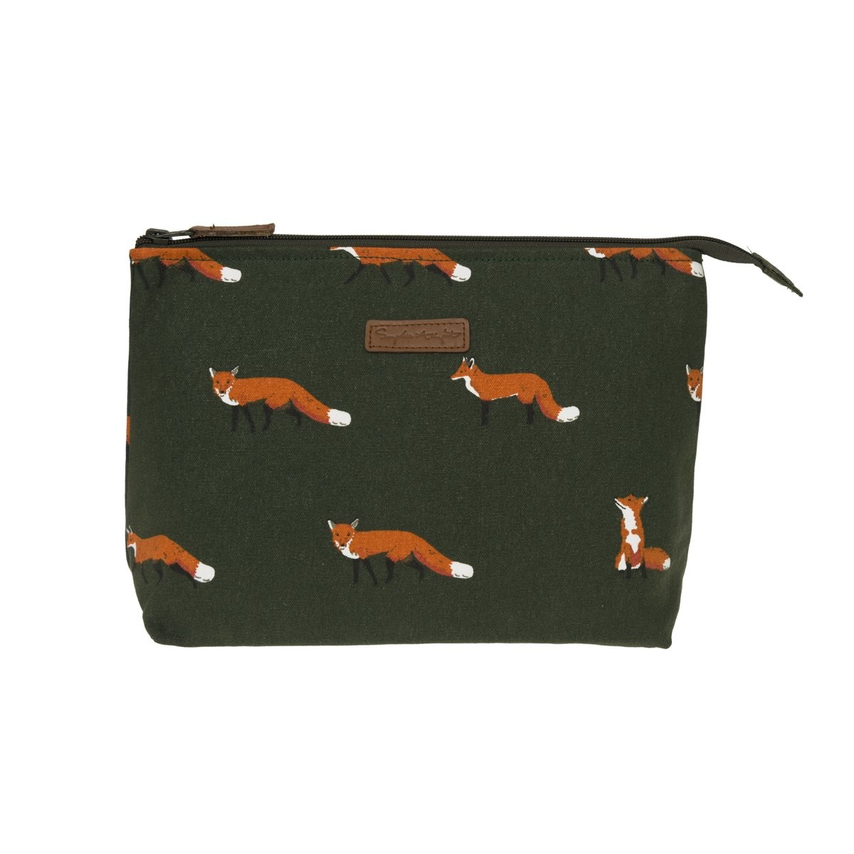 Sophie Allport Canvas Makeup Bag Fox Large