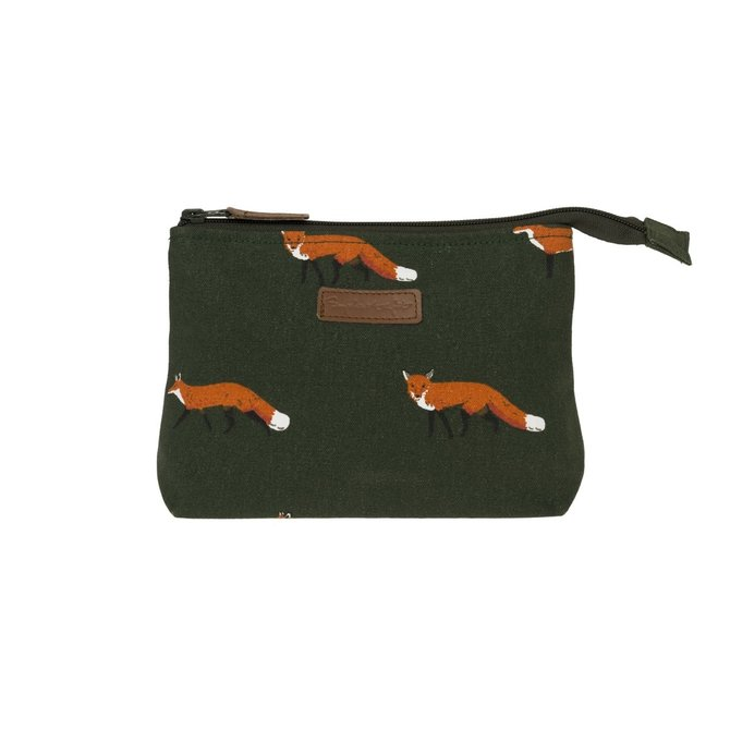 Sophie Allport Canvas Makeup Bag Fox Small