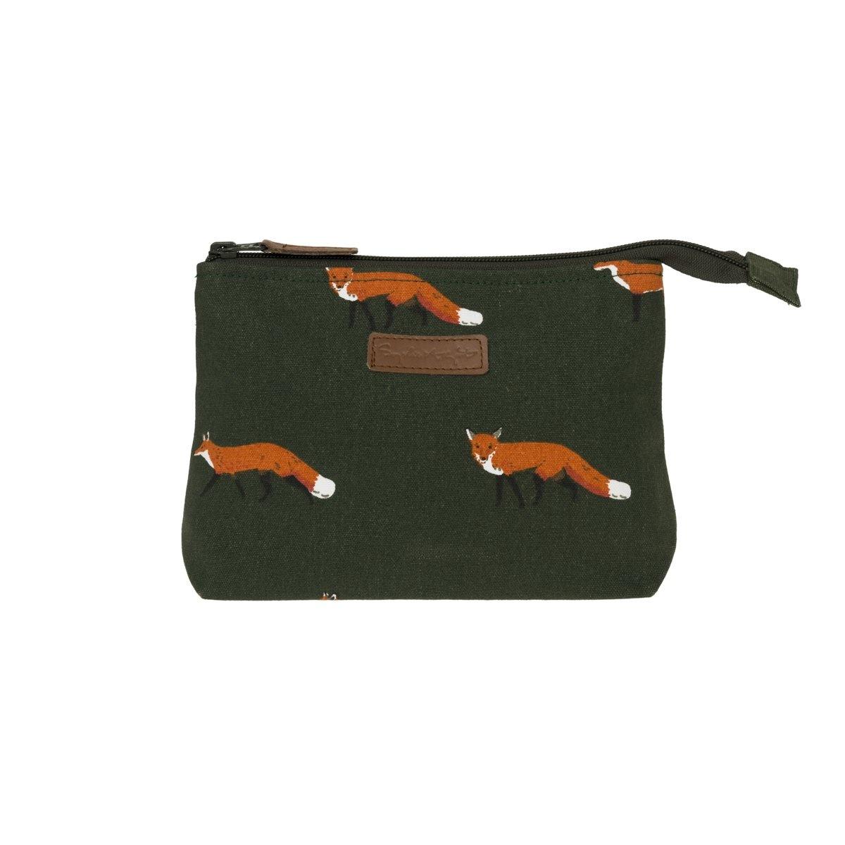 Sophie Allport Canvas Makeup Bag Fox Small