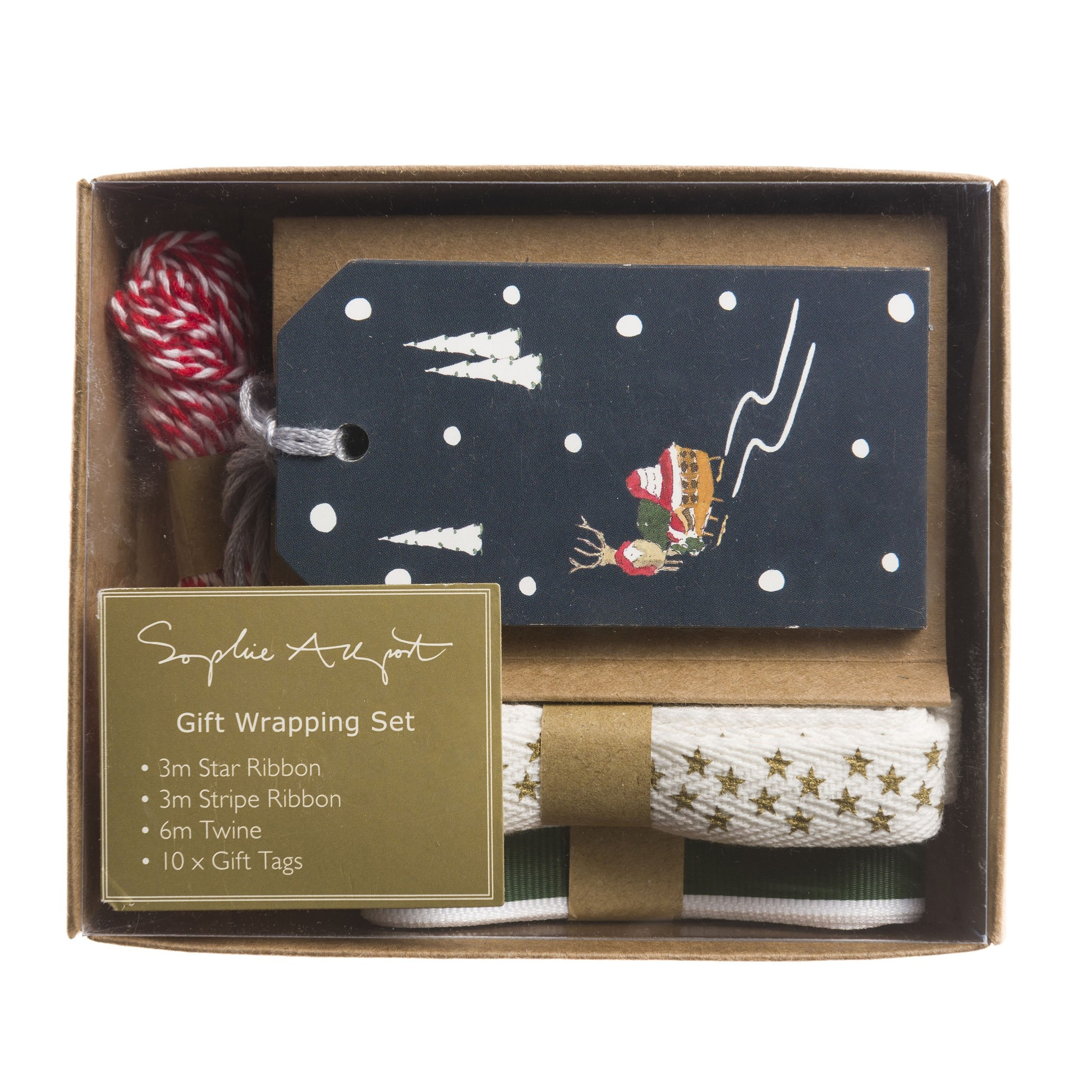 Sophie Allport Ribbon and Wrapping Set Home for Christmas