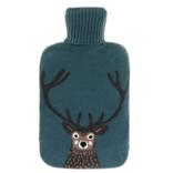 Sophie Allport Knitted Highland Stag Hot Water Bottle