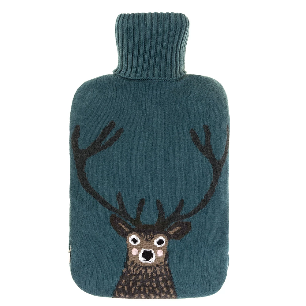 Sophie Allport Knitted Highland Stag Hot Water Bottle