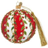 JingleNog Holiday Stripes Ornament