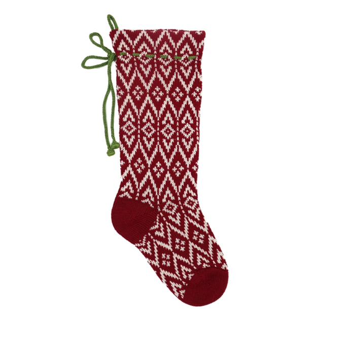 Melange Red Pattern Stocking