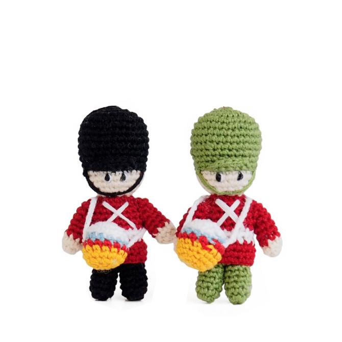 Melange Crochet Drummer Boy Ornaments