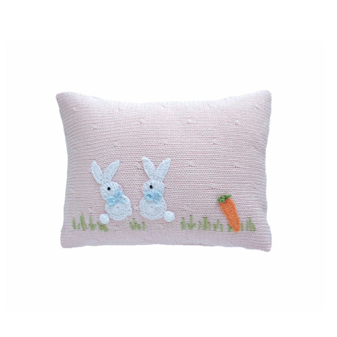 Melange Baby bunny pillow  - pale pink