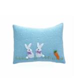 Melange Baby bunny pillow 9'x6.5' - blue