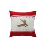 Melange Reindeer Applique Pillow