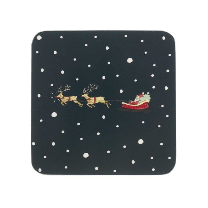 Sophie Allport HOME FOR CHRISTMAS Coasters Set 4