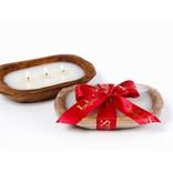 Lux Fragrances Aspen Holiday 3 Wick Dough Bowl