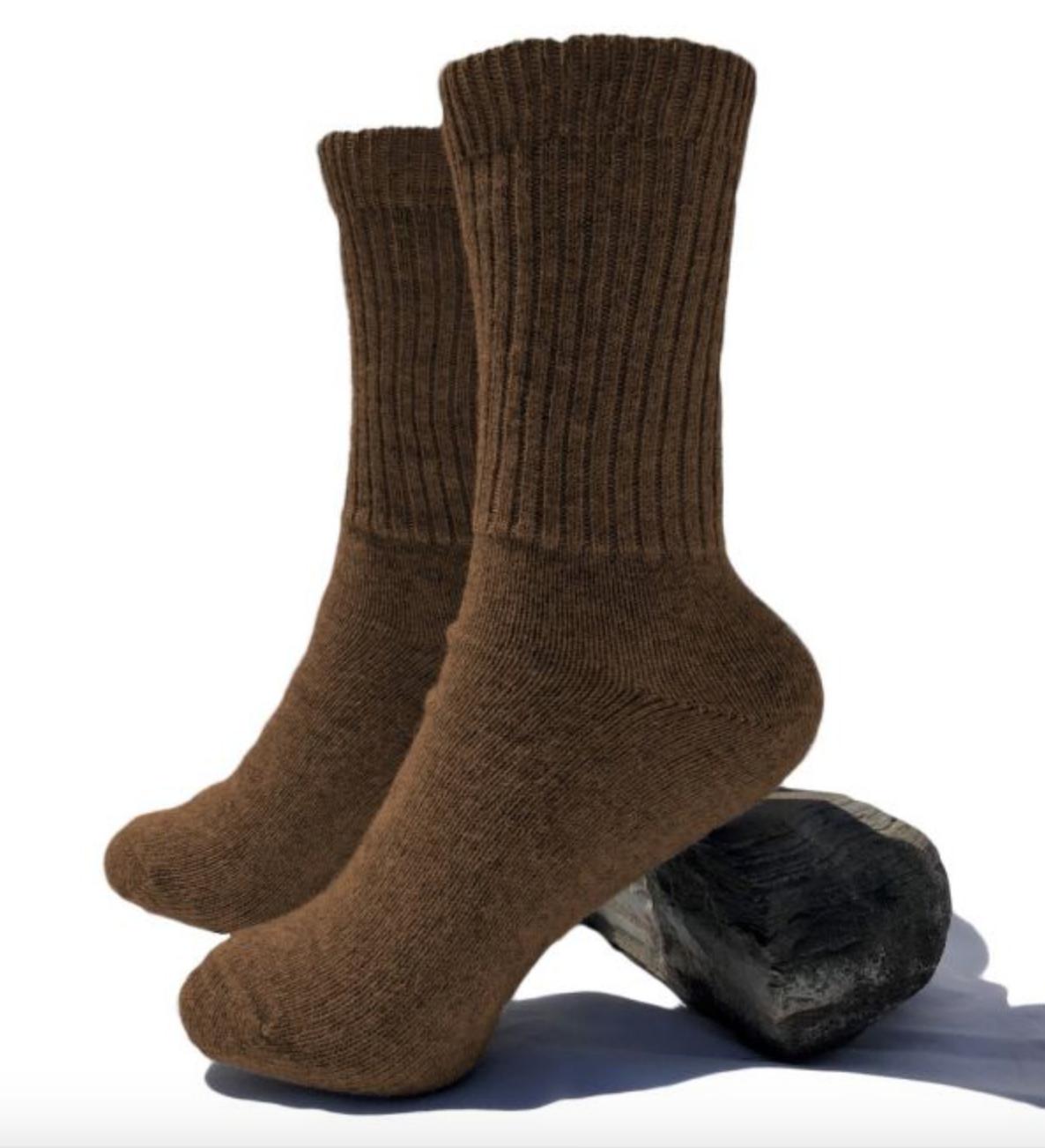 Peruvian Link Thera Alpaca Copper Socks Tobacco M