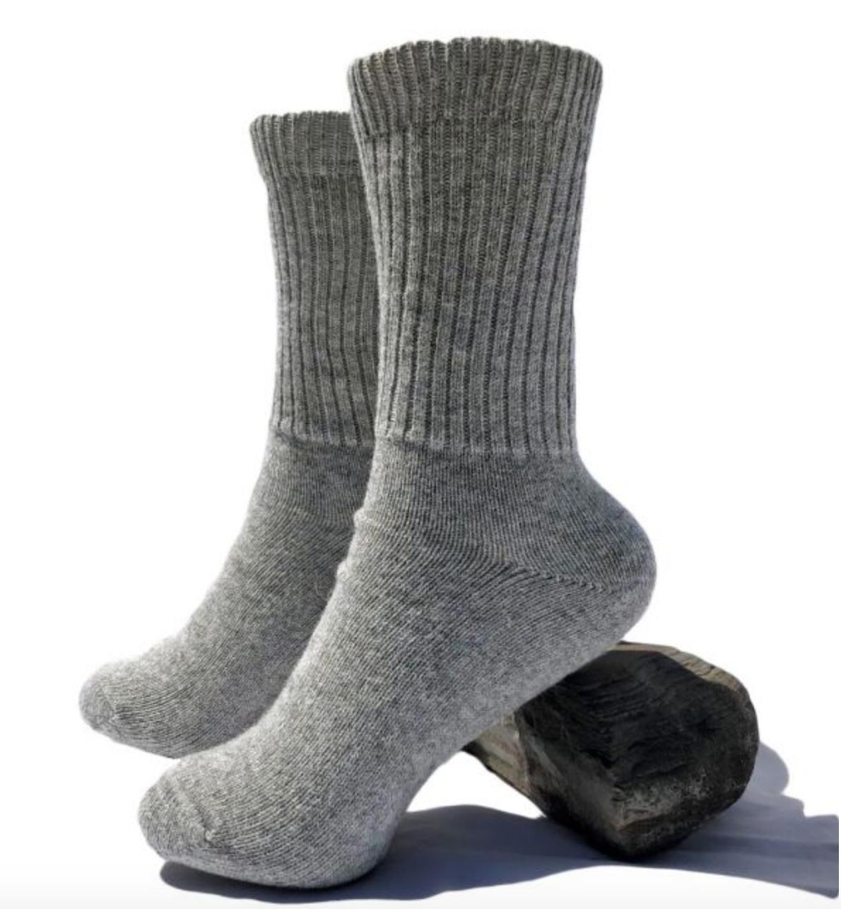 Peruvian Link Alpaca Thera Copper Socks Silver M