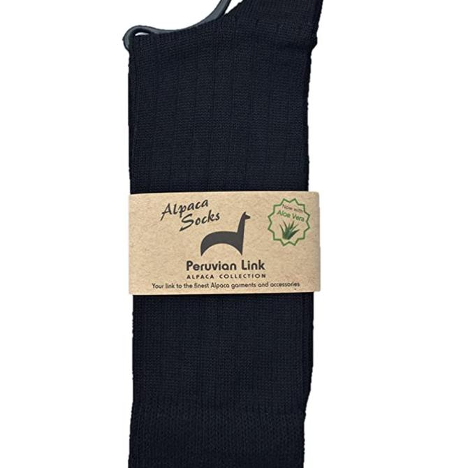 Peruvian Link Dress Socks  Black Lge