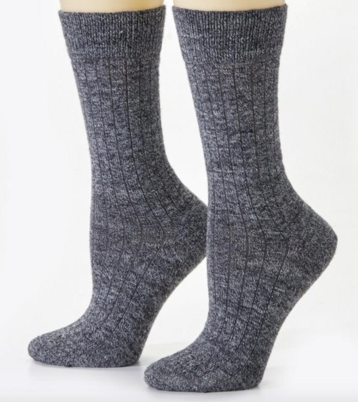 Peruvian Link Dress Alpaca Socks Smokey Grey L/XL
