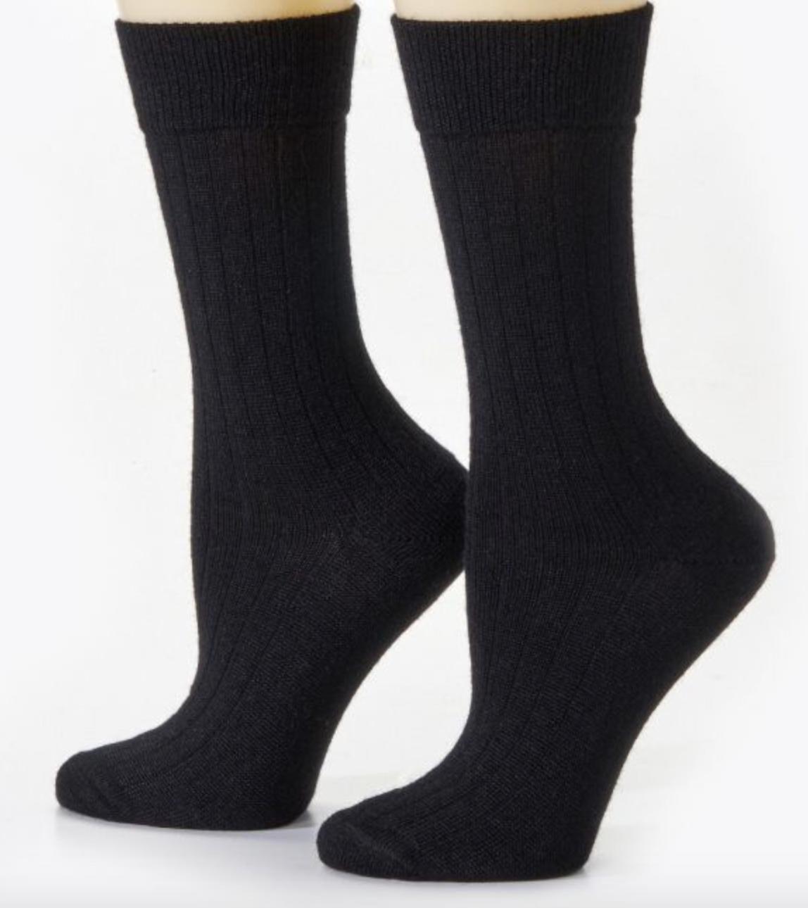 Peruvian Link Dress Alpaca Socks Black XL