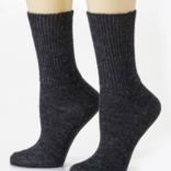 Peruvian Link Highlander Alpaca Sock Charcoal  L/XL
