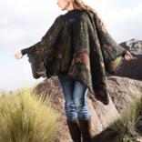 Peruvian Link Emerald Reversible Alpaca Ruana