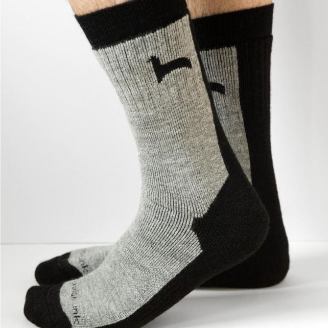 Peruvian Link Hiker Alpaca Socks Black M