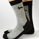Peruvian Link Hiker Alpaca Socks Black L