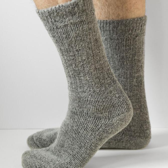 Peruvian Link Ultimate Outdoor Sock Gray LG