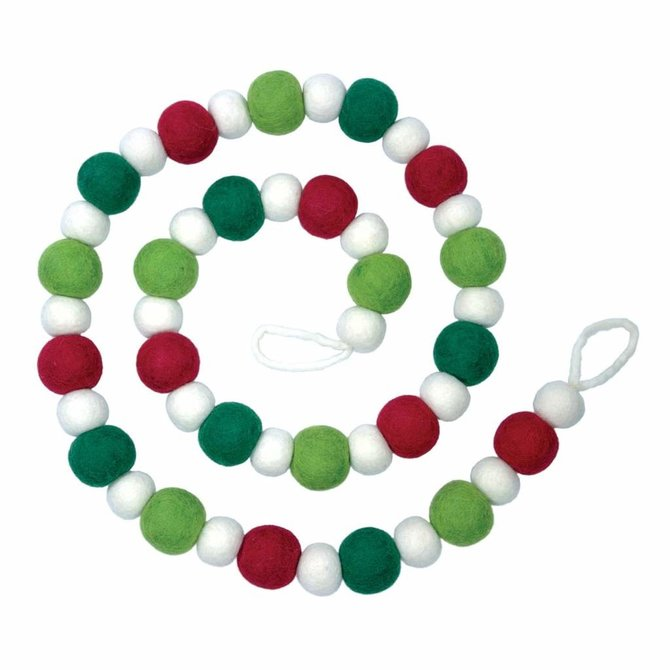 dZi Handmade Elf Red Green & White Garland