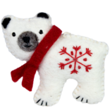 dZi Handmade Snowflake Polar Bear Ornament