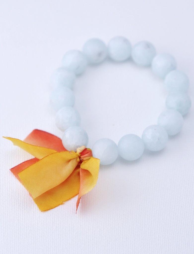Kui Co. Chunky Stone Bracelet - 12mm Matte Seafoam Agate