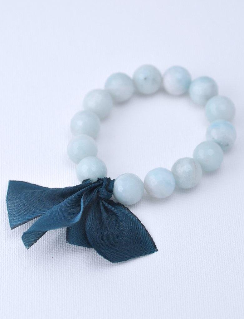 Kui Co. Chunky Stone Bracelet - 12mm Milky Seafoam Agate (Faceted)