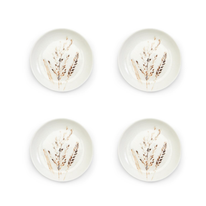 Two's Company Artisan Grains Hand-Crafted Tidbit Dish set of 4