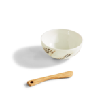 Two's Company Artisan Grains Tidbit Dish with Wooden Spreader