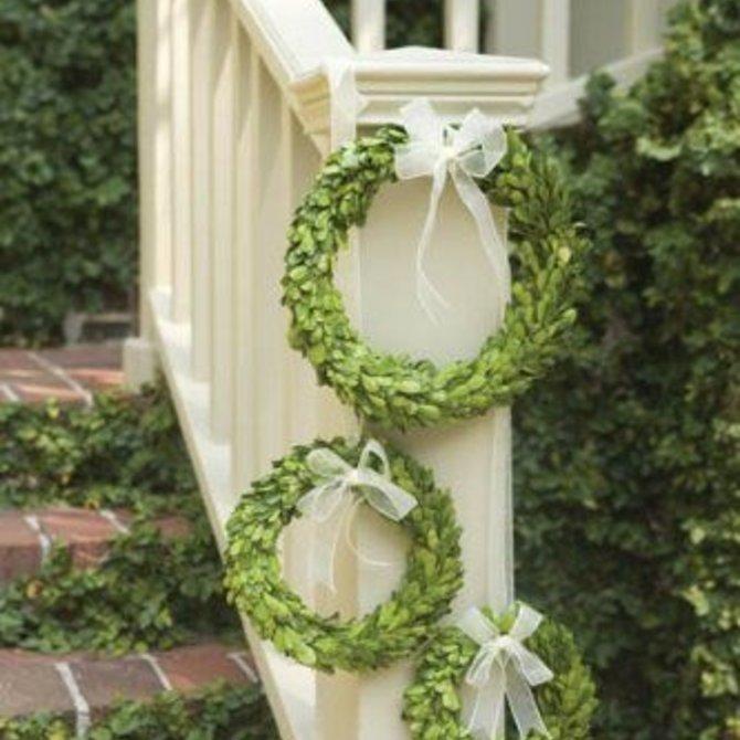 Napa Home and Garden PG Wreath w White Ribbon St/3