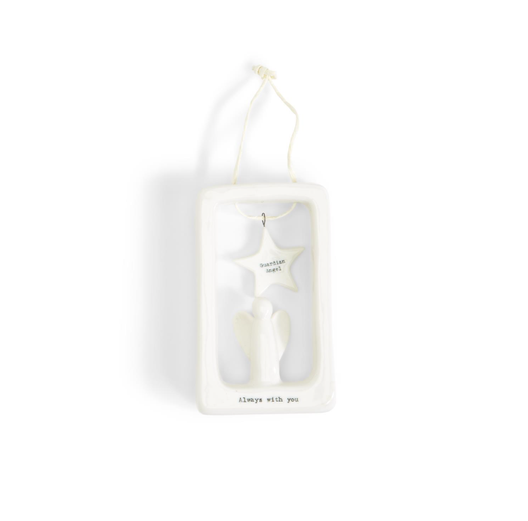 Two's Company Little Guardian Angel Hanging Wall Decor in Gift Box