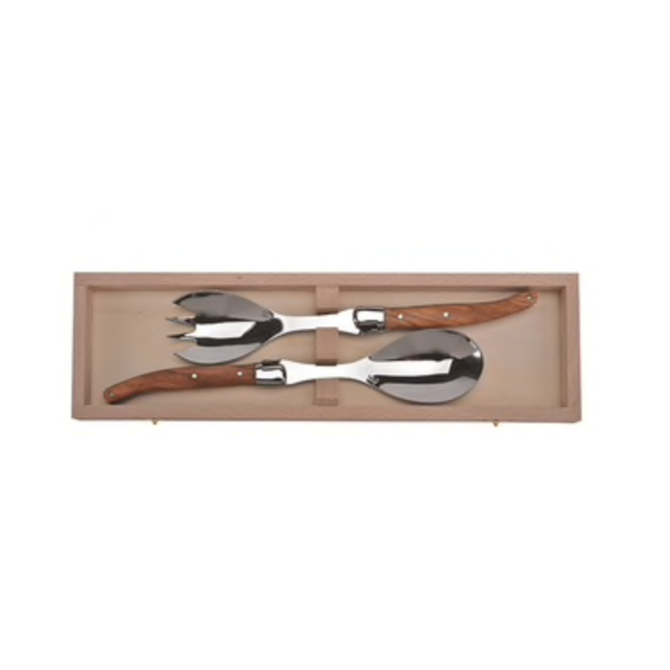 The French Farm Olive Wood Salad Set