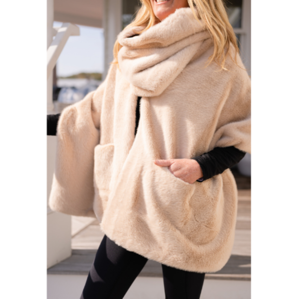 Pretty Rugged 3 in 1 Camel Cowl Neck
