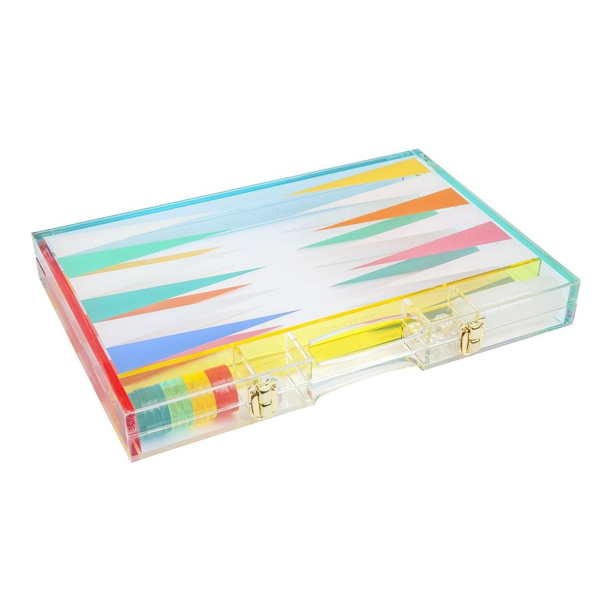 Sunny Life Lucite Backgammon