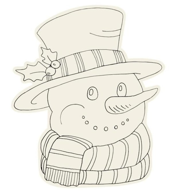 Hester & Cook Coloring Snowman Placemat (12 sheets)