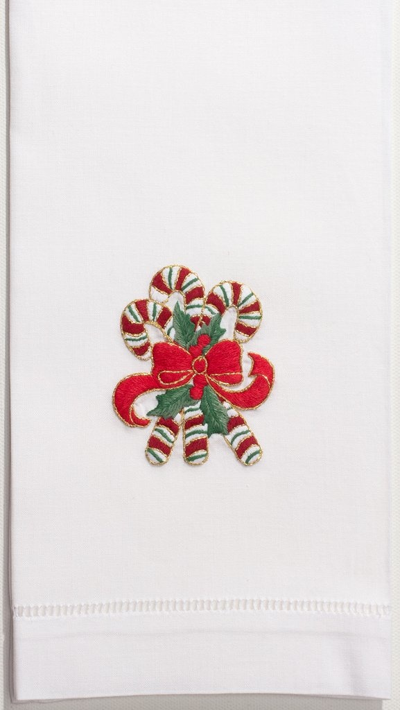 Henry Handwork Candy Canes Towel