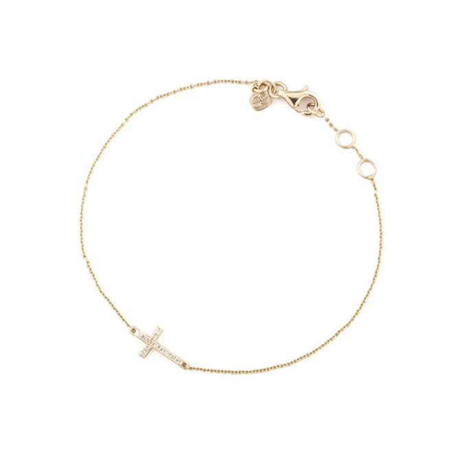 Sydney Evan Mini Cross Bracelet