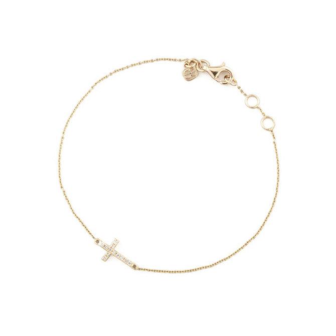 Sydney Evan Mini Cross Bracelet