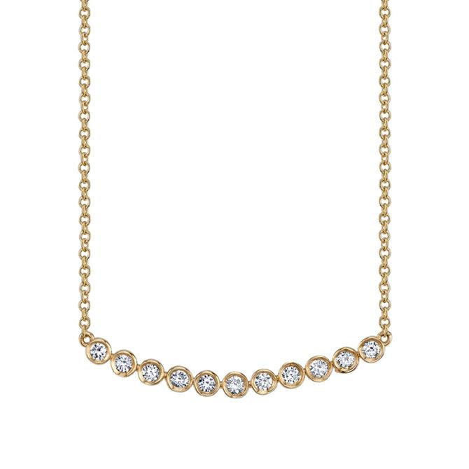 Sydney Evan 11 Stone Bezel Set Necklace