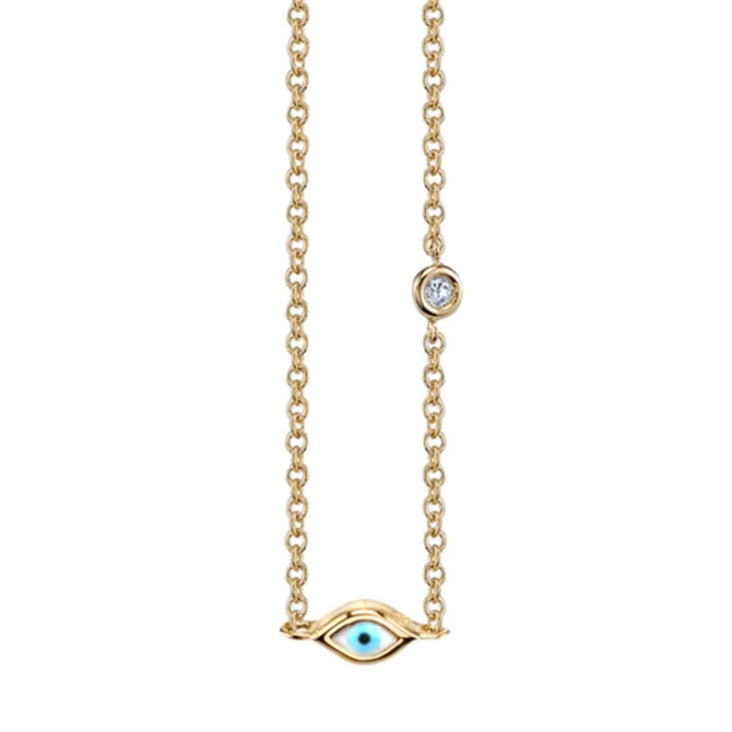 Sydney Evan Mini Enamel Evil Eye Necklace
