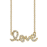 "Sydney Evan Small 'Love"" Necklace"