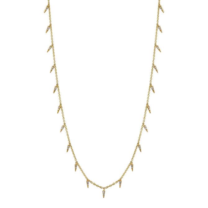 Sydney Evan Pave Fringe Drop Necklace