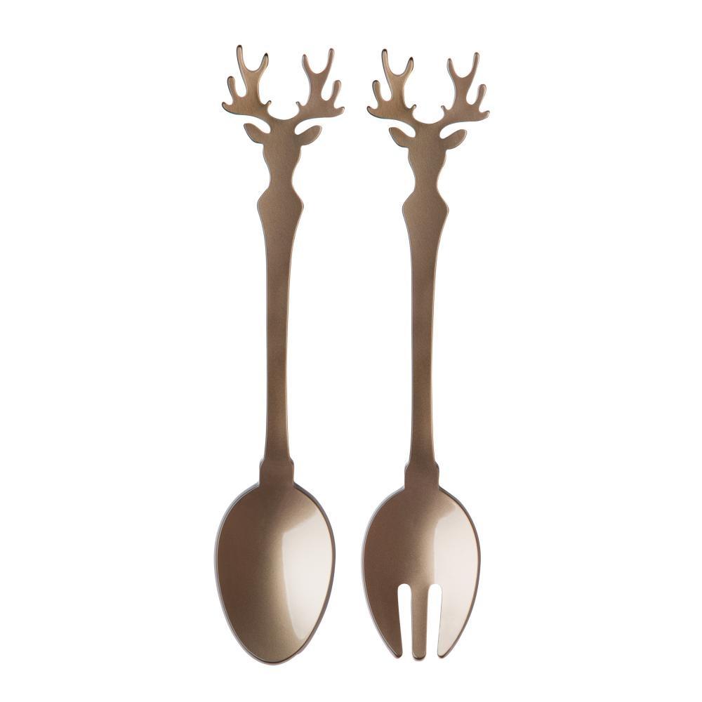 Sabre Salad Set - 2 Pcs - Deer - Caramel