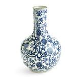 Two's Company Blue & White Lotus Flower Vase/Pl