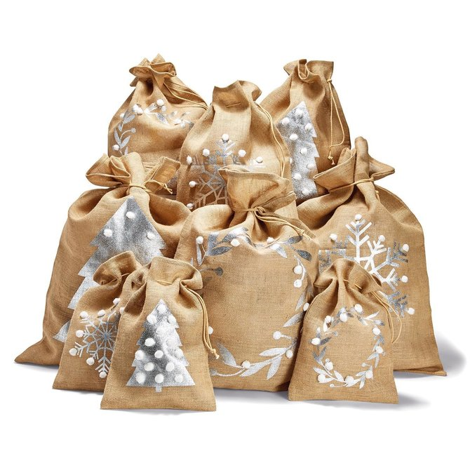 Two's Company Gift Bag w/Pom Large